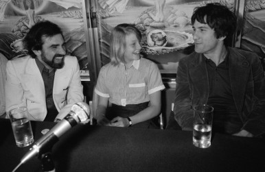 Martin Scorsese, Jodie Foster and Robert De Niro during a press conference for Taxi Driver at the Cannes Film Festival 1976 Photo: Getty Images.