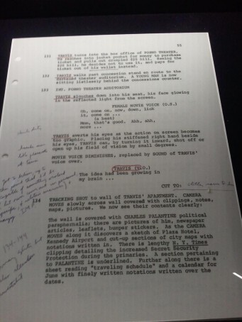 "Screenplay by Paul Schrader with handwritten notes by Robert De Niro, ""Taxi Driver."""