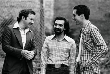 "Paul Schrader, Martin Scorsese and Robert De Niro on the set of ""Taxi Driver""; Behind The Scenes Photos from ""Taxi Driver"" (1976) Taken by Steve Schapiro;"