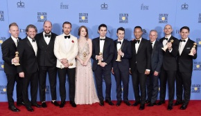 The Golden Globe winners: La La Land's full Cast & Crew at the 74th annual Golden Globe Awards at the Beverly Hilton Hotel on Sunday, Jan. 8, 2017, in Beverly Hills, California. AP