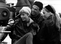 Bibi Andersson and Liv Ullman in Persona (1966) with Director Ingmar Bergman in 1966.