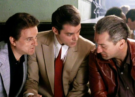 Scorsese initially named the film Wise Guy and postponed making it; later, he and Pileggi changed the name to Goodfellas. To prepare for their roles in the film, Robert De Niro, Joe Pesci, and Ray Liotta often spoke with Pileggi, who shared research material left over from writing the book. According to Pesci, improvisation and ad-libbing came out of rehearsals wherein Scorsese gave the actors freedom to do whatever they wanted. The director made transcripts of these sessions, took the lines he liked best, and put them into a revised script, which the cast worked from during principal photography.