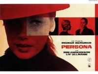 "Persona (1966) directed by Ingmar Bergman. The film includes symbolism about vampires and cinema itself. The title Persona references the Greek word for mask and Carl Jung's theory of an external identity, separate from the soul (""alma""). The film has sometimes been categorized as a tragedy."