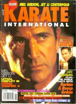 Mel Gibson 10/98 Karate International Cover