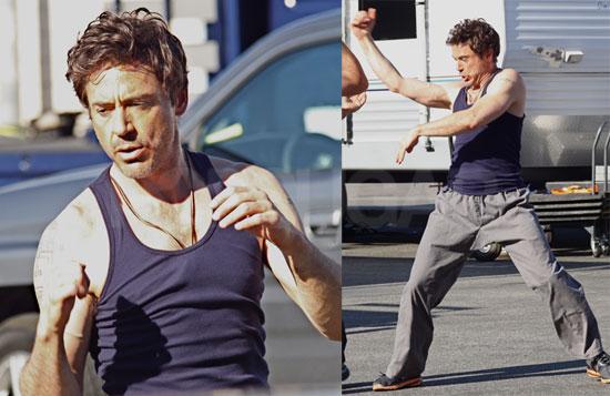 Robert Downey Jr. training Martial Arts On The Set of