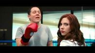 Scarlett Johansson in Iron Man 2 (2010) with Director Jon Favreau