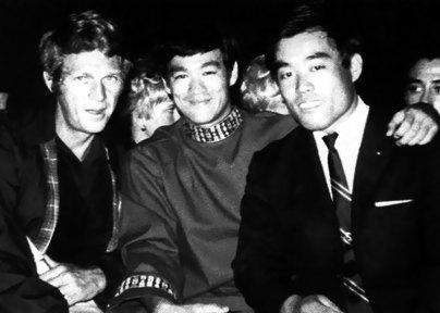Steve McQueen with Bruce Lee