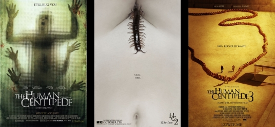 The Human Centipede (Film Series): 1, 2 & 3. — Oh, yes, there's three of them. It's Motherf*cking trilogy! Like Christmas all the way. But without all the merriment and Santa Claus. We'll be discussing the second one in the series in this post. And Yes, there's fat guy in this film. the fat guy you see just running around and beating people up is definitely not Santa. Beware kids!