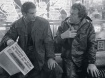 Blade Runner - Behind the scenes photo of Harrison Ford, Ridley Scott