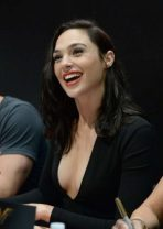 Gal Gadot at the San Diego Comic-Con promoting Wonder Woman. Gadot is a former member of the Israeli Defence Forces and a combat trainer. From the age of 20, Gadot served for two years as an enlisted soldier of the Israeli military. There, she excelled in a grueling three-month boot camp that prepared her to serve as a special combat trainer.