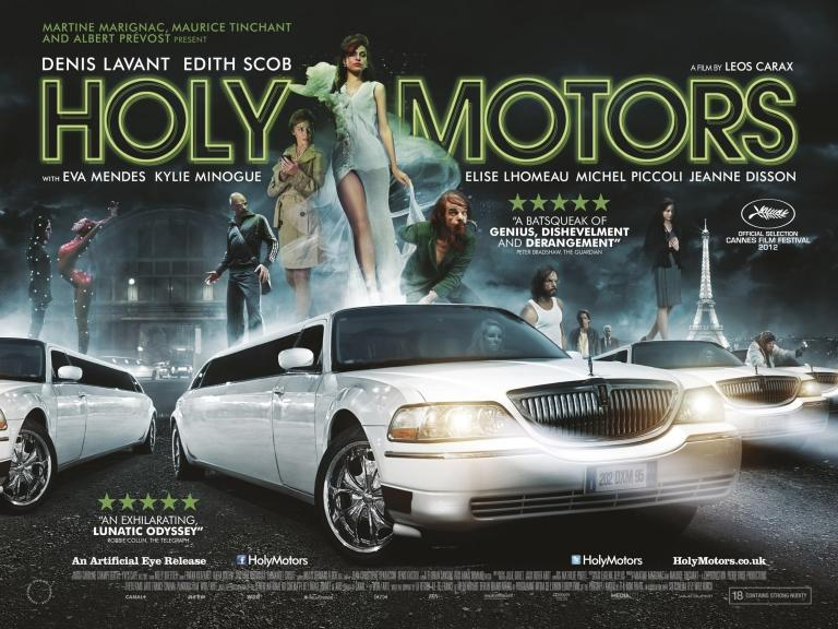 'Holy Motors' is a 2012 French-German fantasy drama film written and directed by Leos Carax, starring Denis Lavant and Édith Scob. But Kyle Minogue and Eva Mendes steals the show for a short period of time.