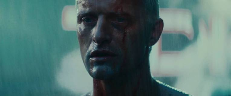 """Tears in Rain"", also referred to as ""The C-Beams Speech"", is a brief monologue delivered by replicant Roy Batty (portrayed by Rutger Hauer) in the Ridley Scott film Blade Runner. The final form, altered from the scripted lines and improvised by Hauer on the eve of filming, has entered popular culture as ""perhaps the most moving death soliloquy in cinematic history"" and is an often quoted piece of science fiction writing."