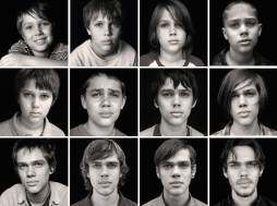 "Filming ""Boyhood"" took 12 years. The film begins with the year being 2002 and a six-year-old Mason Evans, Jr. and ends with him being Eighteen years of age in 2013. Actor Ellar Coltrane ages from roughly 8 to 19 in 'Boyhood.'"