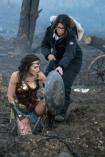 Wonder Woman Gal Godot and director Patty Jenkins on a freezing set of [object Object] in the U.K. Clay Enos—DC Comics