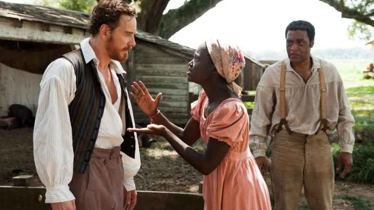 Michael Fassbender, Lupita Nyong'o and Chiwetel Ejofor in '12 Years a Slave'