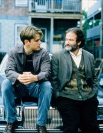 Robin Williams and Matt Damon in Good Will Hunting (1997)