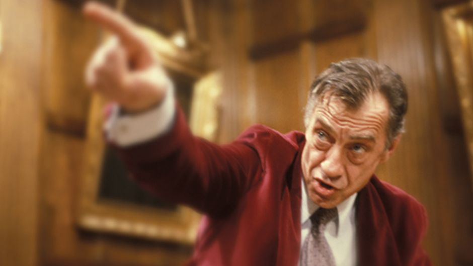 "Philip Baker Hall as ""Richard Nixon"" in Secret Honor (1984 Film, USA)"